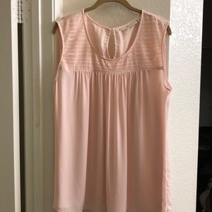 Women's 14W Light Pink Shirt with Lace Detail